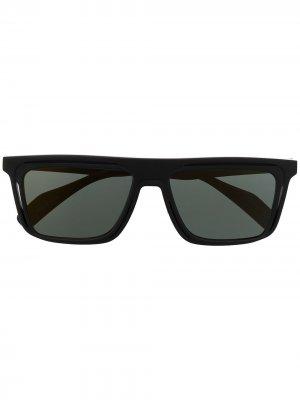 Солнцезащитные очки в прямоугольной оправе Yohji Yamamoto. Цвет: черный