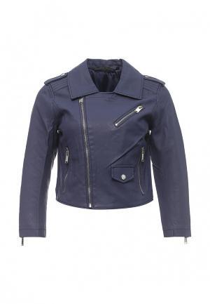 Куртка кожаная Silvian Heach. Цвет: синий