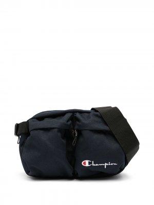Поясная сумка на молнии с логотипом Champion. Цвет: синий