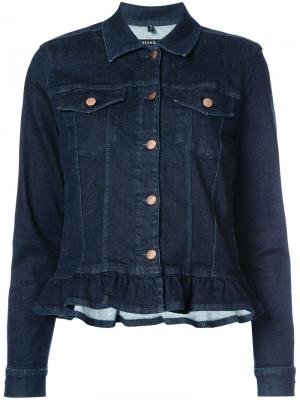 Джинсовая куртка с оборками J Brand. Цвет: синий