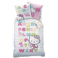 Комплект постельного белья, 100% хлопка HELLO KITTY. Цвет: рисунок/белый