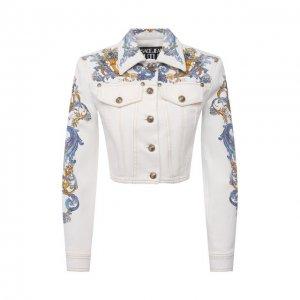 Джинсовая куртка Versace Jeans Couture. Цвет: белый