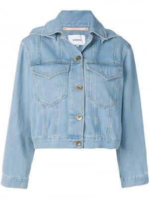 Классическая джинсовая куртка Nanushka. Цвет: синий