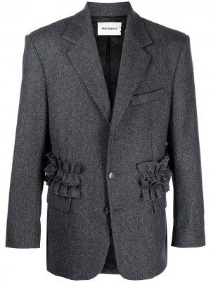 Пиджак с оборками Molly Goddard. Цвет: серый