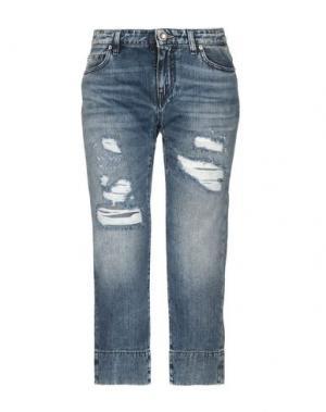 Джинсовые брюки-капри JIJIL LE BLEU. Цвет: синий
