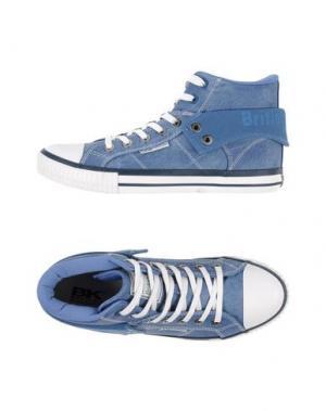 Высокие кеды и кроссовки BRITISH KNIGHTS. Цвет: пастельно-синий