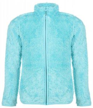 Джемпер флисовый для девочек , размер 128 Outventure. Цвет: голубой