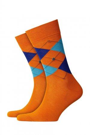 Оранжевые носки Manchester с ромбами Burlington. Цвет: оранжевый