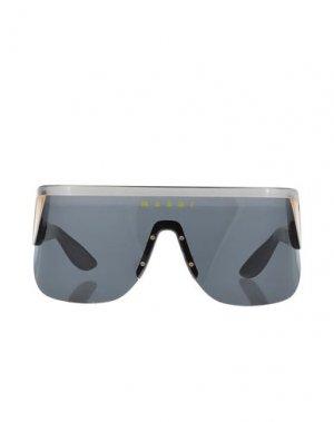 Солнечные очки MARNI. Цвет: черный