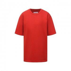 Хлопковая футболка Heron Preston for Calvin Klein. Цвет: красный