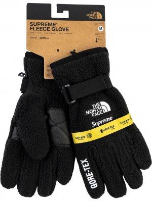 Перчатки из коллаборации с North Face Supreme. Цвет: черный