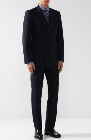 Шерстяной костюм с двубортным пиджаком Tom Ford. Цвет: синий