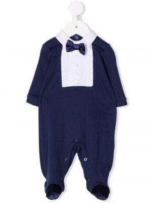 Пижама в стиле колор-блок Monnalisa. Цвет: синий