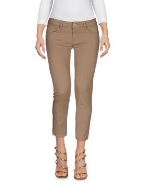 Джинсовые брюки-капри CYCLE. Цвет: верблюжий