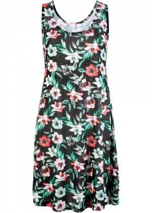 Пляжное платье bonprix. Цвет: черный