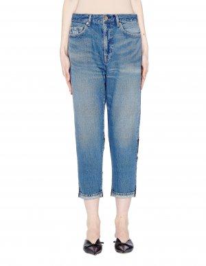 Укороченные джинсы со вставками Undercover