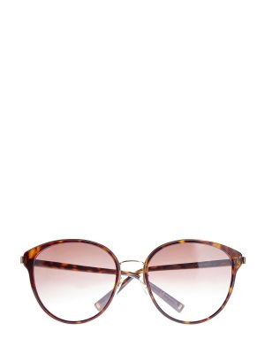 Очки в тонкой оправе с запаянным черепаховым принтом GIVENCHY (sunglasses). Цвет: коричневый