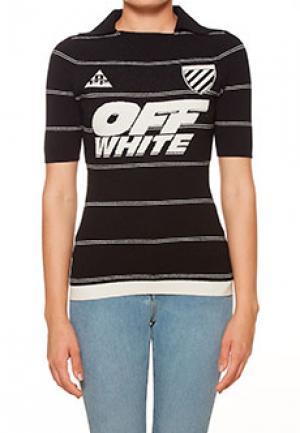 Футболка OFF-WHITE. Цвет: черный