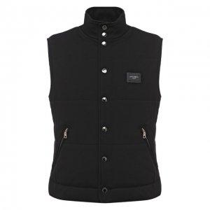 Утепленный жилет Dolce & Gabbana. Цвет: чёрный