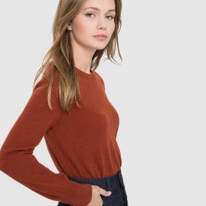 Пуловер с круглым вырезом, 100% кашемира La Redoute Collections. Цвет: красно-фиолетовый