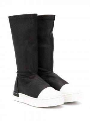 Сапоги с контрастным носком Cinzia Araia Kids. Цвет: черный
