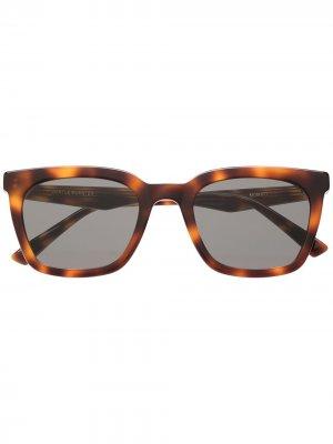 Солнцезащитные очки с принтом Gentle Monster. Цвет: brown/черный