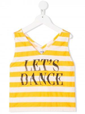 Полосатый топ Lets Dance Bobo Choses. Цвет: желтый