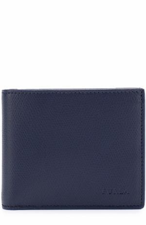 Кожаное портмоне с отделениями для кредитных карт и монет Furla. Цвет: темно-синий