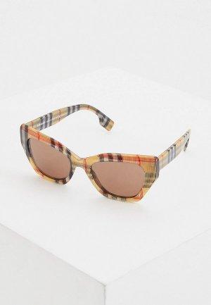Очки солнцезащитные Burberry 0BE4299 383273. Цвет: бежевый