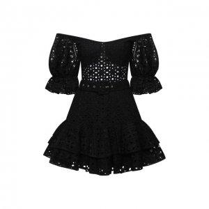 Хлопковое платье Charo Ruiz Ibiza. Цвет: чёрный