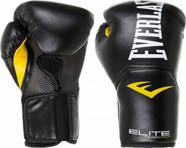 Перчатки боксерские Elite Pro style Everlast. Цвет: черный