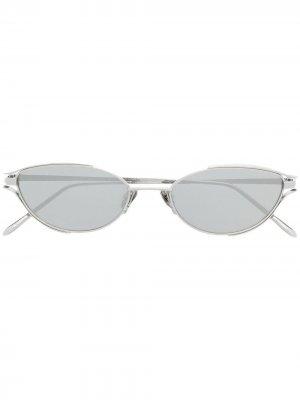 Солнцезащитные очки Cradle в оправе кошачий глаз Linda Farrow. Цвет: серебристый