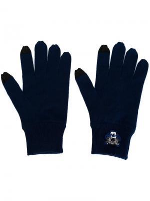 Вязаные перчатки Mini Tiger Kenzo. Цвет: синий