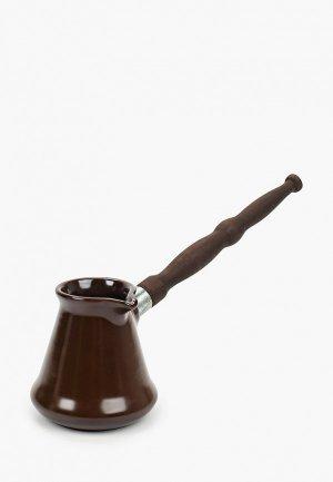Турка Ceraflame керамическая, Ibriks, 0.24 л. Цвет: коричневый