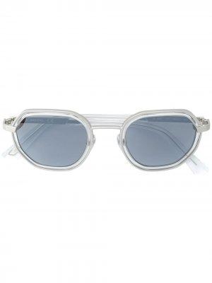 Солнцезащитные очки в квадратной оправе Diesel. Цвет: золотистый