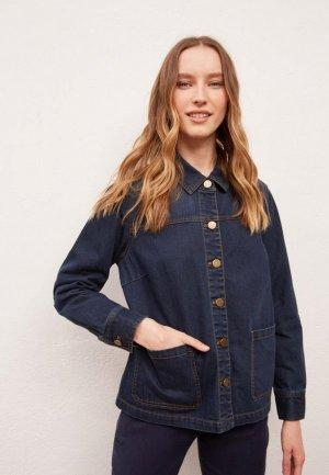 Куртка джинсовая Gerard Darel. Цвет: синий