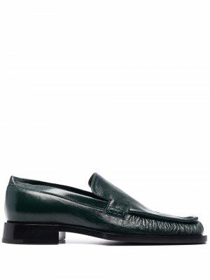 Square-toe loafers Jil Sander. Цвет: зеленый
