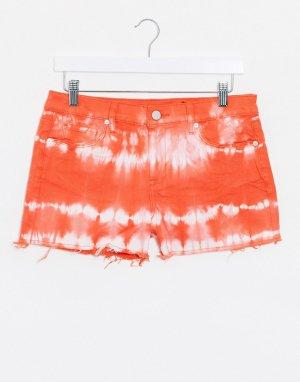 Оранжевые джинсовые шорты с принтом тай-дай Blank NYC-Оранжевый цвет NYC
