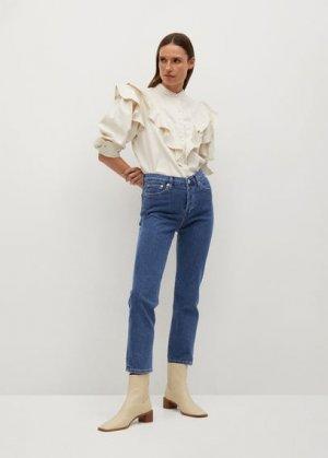 Прямые джинсы из хлопка - Mar Mango. Цвет: темно-синий
