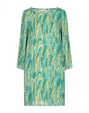 Короткое платье ATTIC AND BARN. Цвет: зеленый