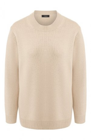 Кашемировый пуловер Theory. Цвет: бежевый
