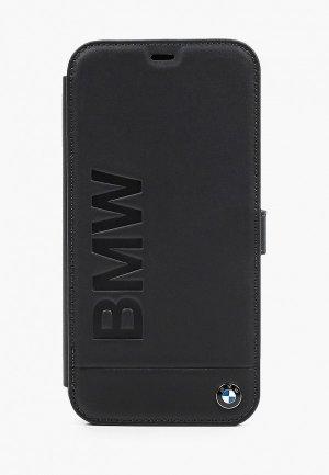 Чехол для iPhone BMW 12 Pro Max (6.7), Signature Genuine leather Logo imprint Black. Цвет: черный
