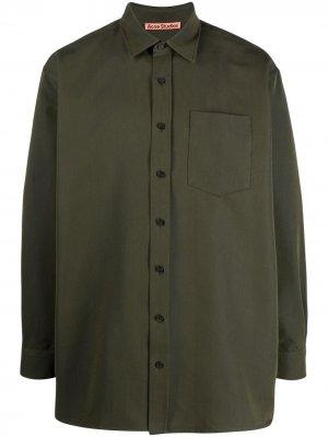 Рубашка оверсайз с длинными рукавами Acne Studios. Цвет: зеленый