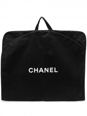 Чехол для одежды с логотипом Chanel Pre-Owned. Цвет: черный