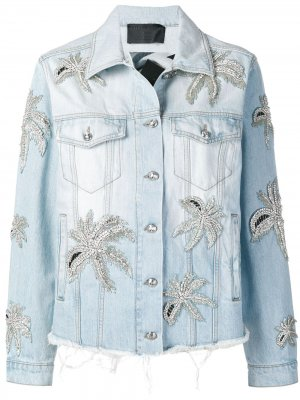 Джинсовая куртка Aloha Plein Philipp. Цвет: синий