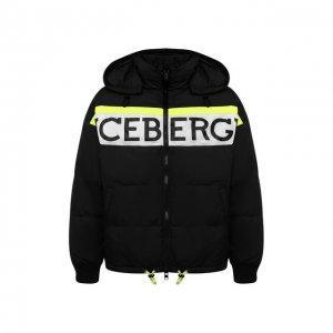 Пуховая куртка Iceberg. Цвет: чёрный