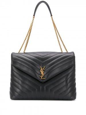 Large Lou chain bag Saint Laurent. Цвет: черный