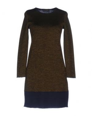 Короткое платье ALESSANDRO. Цвет: зеленый-милитари