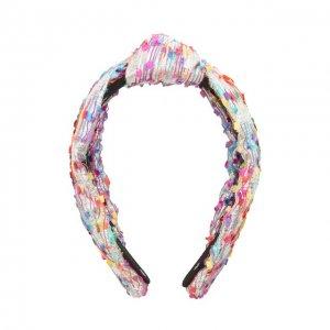 Ободок для волос Lele Sadoughi. Цвет: разноцветный