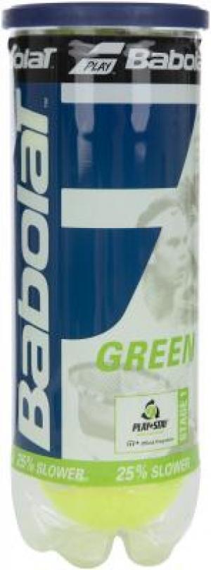 Набор теннисных мячей Green X3 Babolat. Цвет: желтый